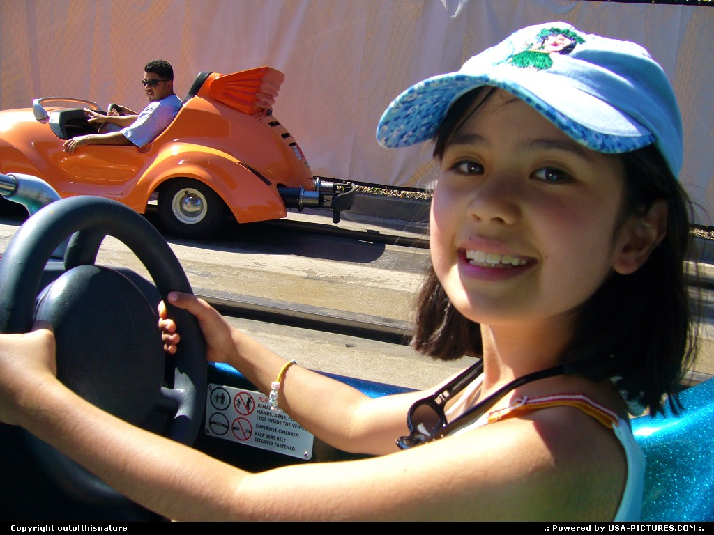 Picture by outofthisnature: Anaheim California   kid, driving, Disneyland