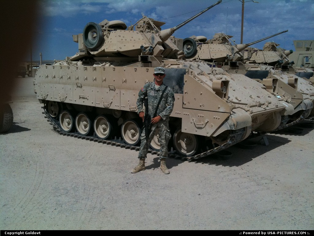 Picture by Goldovt:BarstowCaliforniaCalifornia, tank, IFV, NTC