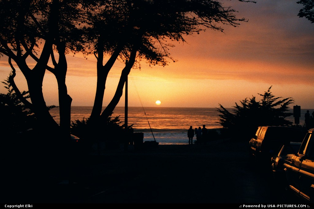 Picture by elki: Carmel California   sunset, beach