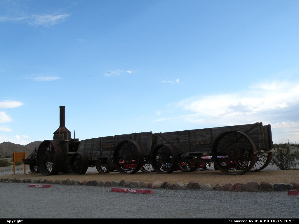 Picture by Bernie:  California Death Valley  steam, wagon