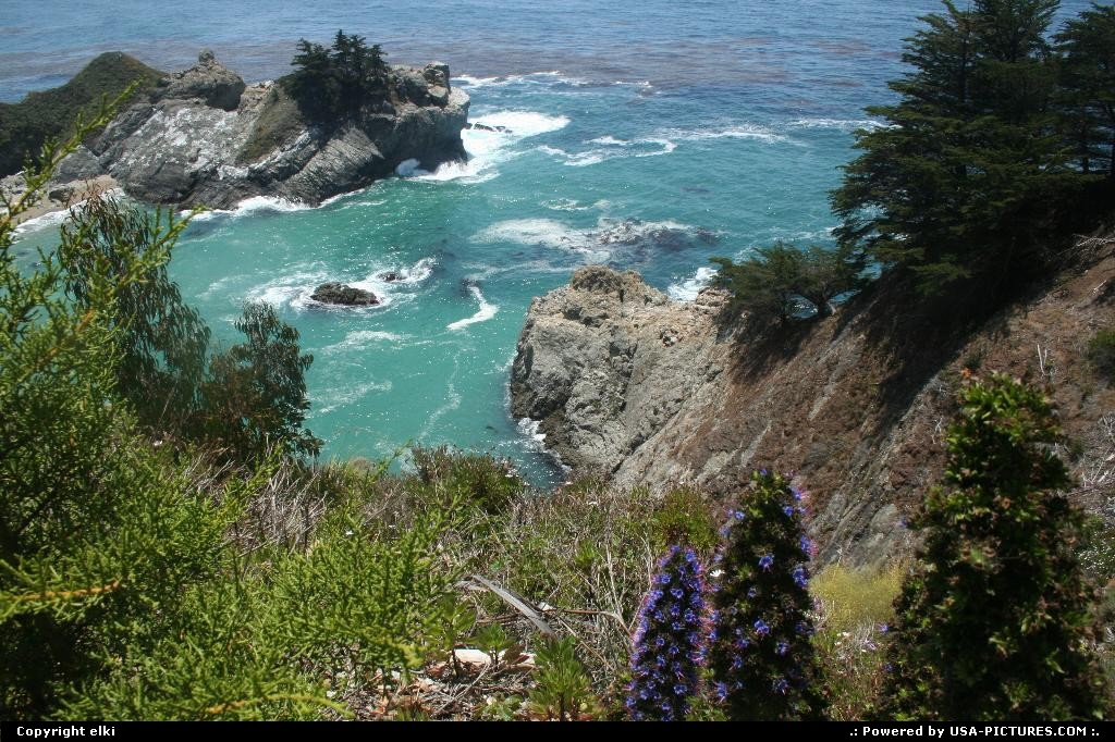 Picture by elki: Hors de la ville California   Julia Pfeiffer Burns state park route 1 california