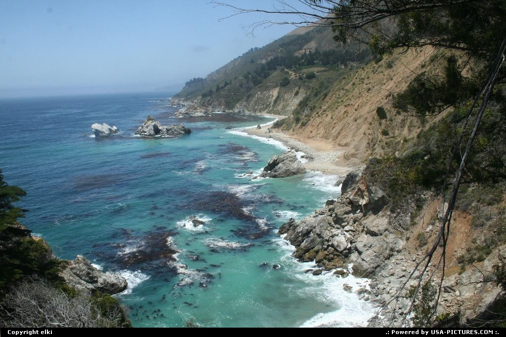 Picture by elki: Hors de la ville California   route 1 california