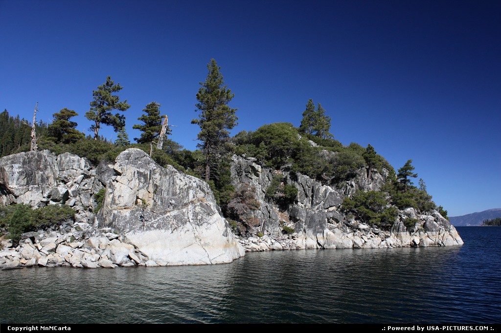 Picture by MnMCarta: Lake Tahoe California   lake,tahoe,emerald,bay,water,nature,mountain,rocks,view