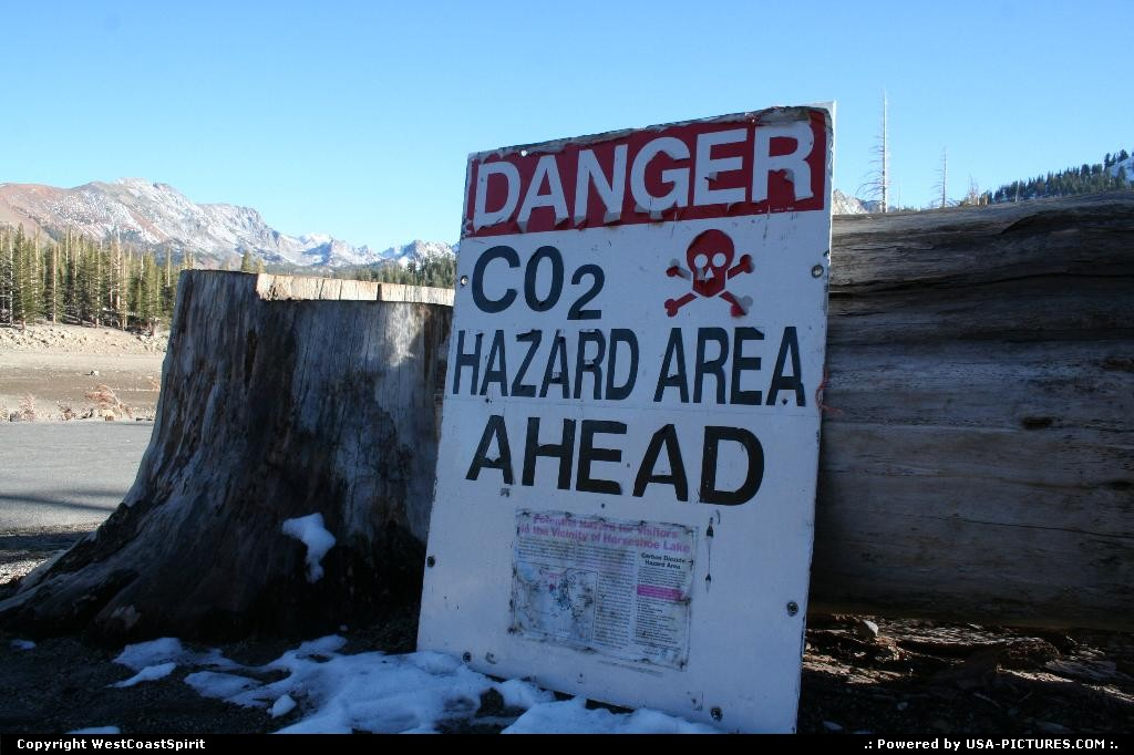 Picture by WestCoastSpirit: Mammoth Lakes California   mammoth lakes, hazard, co2