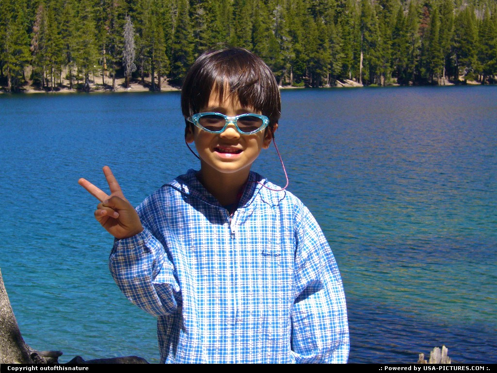 Picture by outofthisnature: Mammoth Lakes California   boy, sunglasses, lake