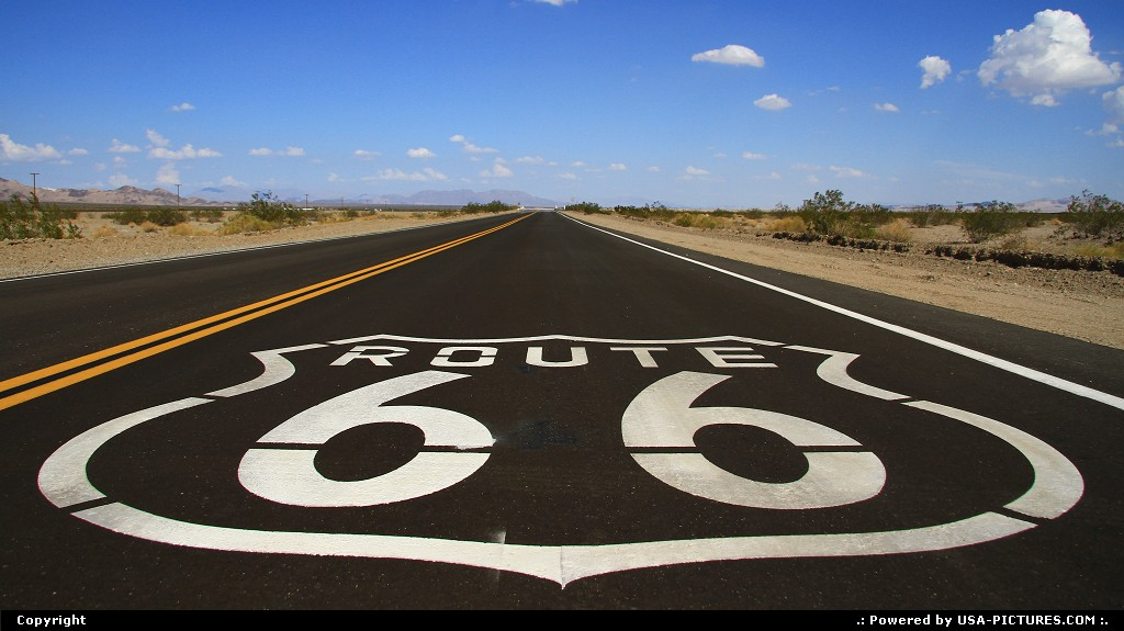 Picture by airtrainer: Not in a City California   route 66, road, landscape