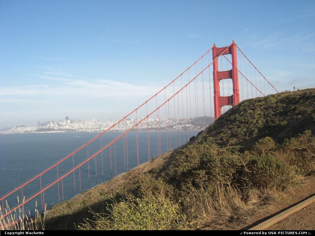 Picture by Wachette: Not in a city California   golden gate