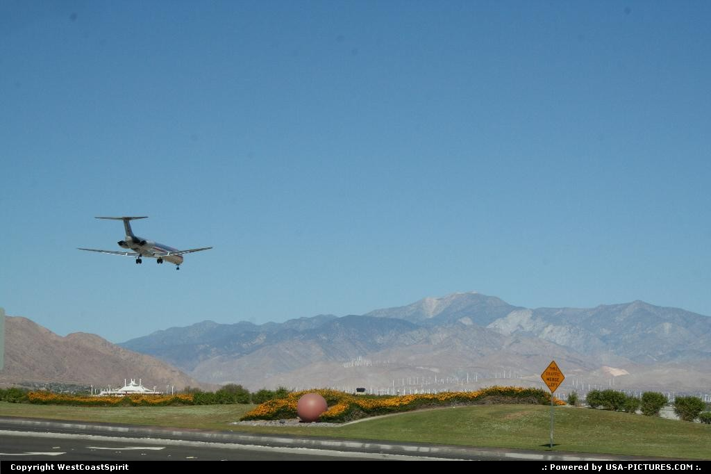 Picture by WestCoastSpirit: Palm Springs California   oasis, desert, AA, MD 80, plane