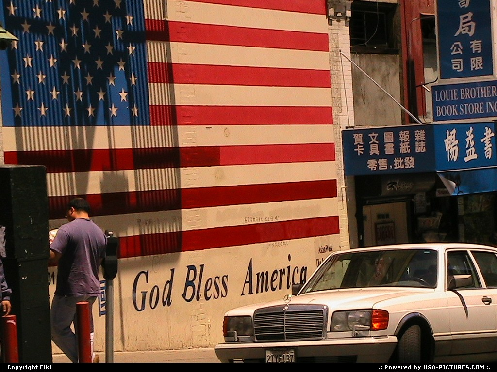Picture by elki: San Francisco California   God Bless America, art