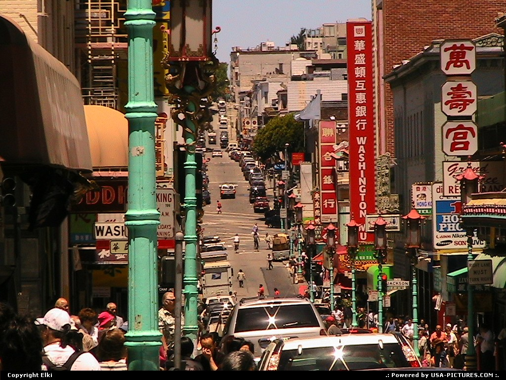 Picture by elki:San FranciscoCaliforniachinatown
