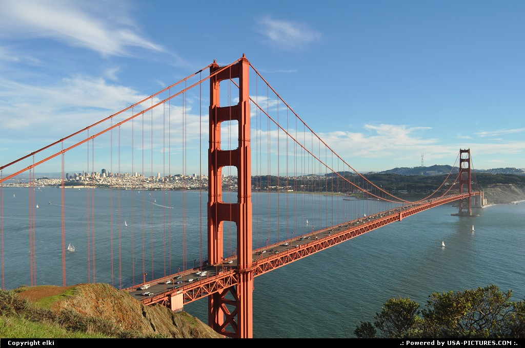 Picture by elki: San Francisco California   golden gate bridge