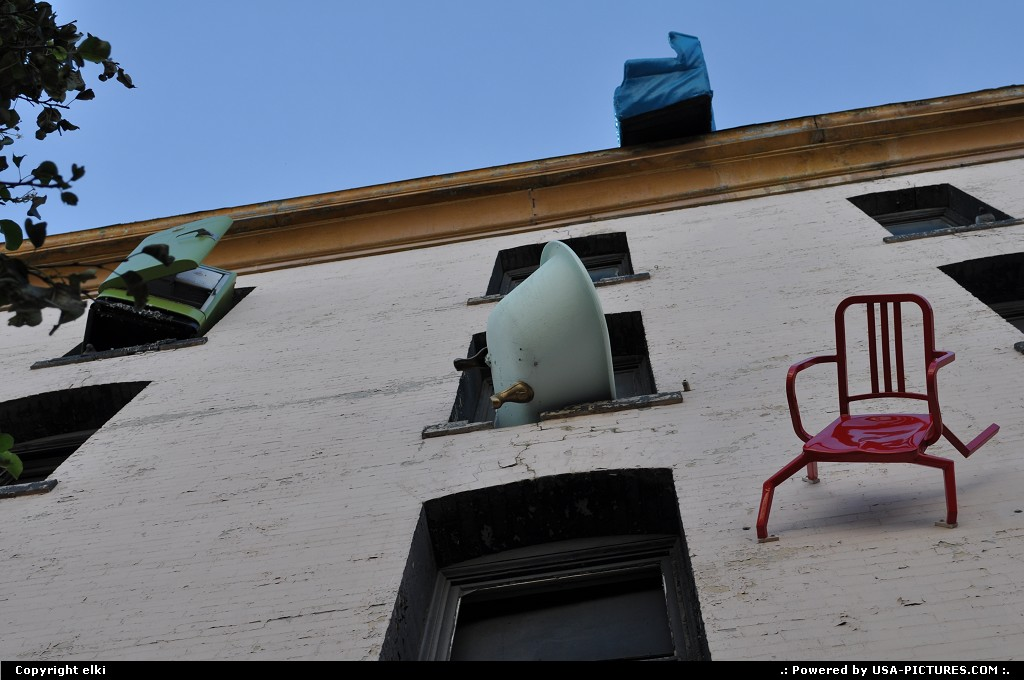 Picture by elki: San Francisco California   falling furniture