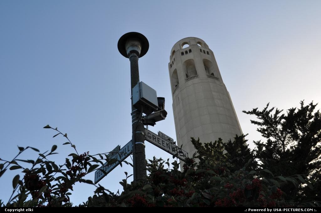 Picture by elki:San FranciscoCaliforniacoit tower san francisco california
