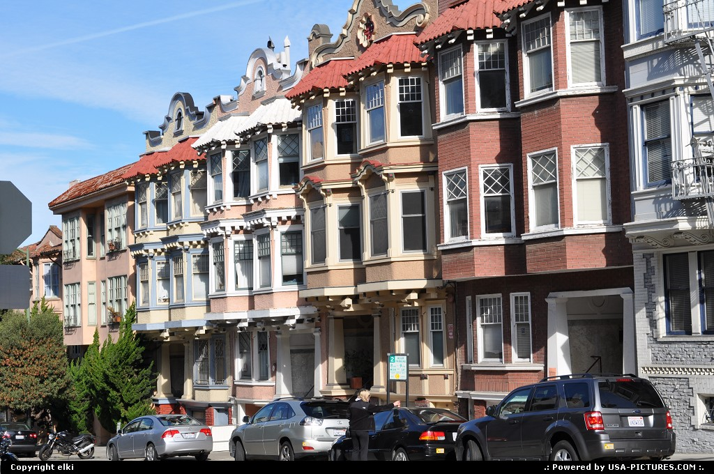 Picture by elki: San Francisco California   houses, san francisco