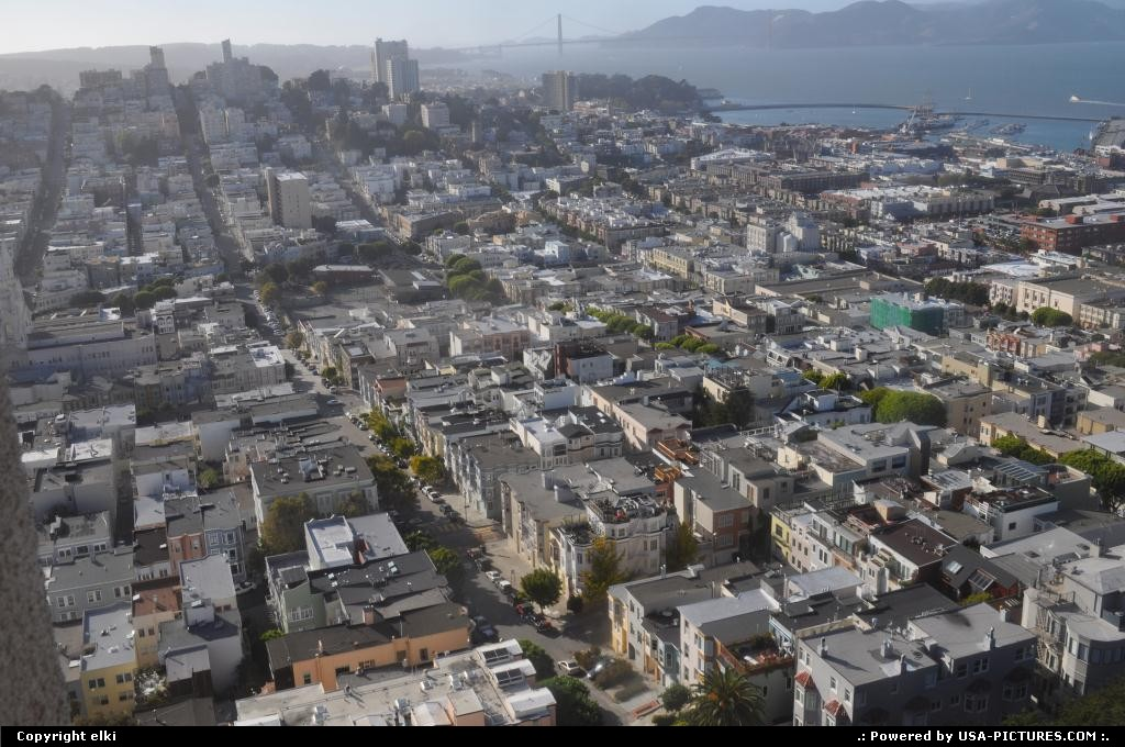 Picture by elki:San FranciscoCaliforniacoit tower