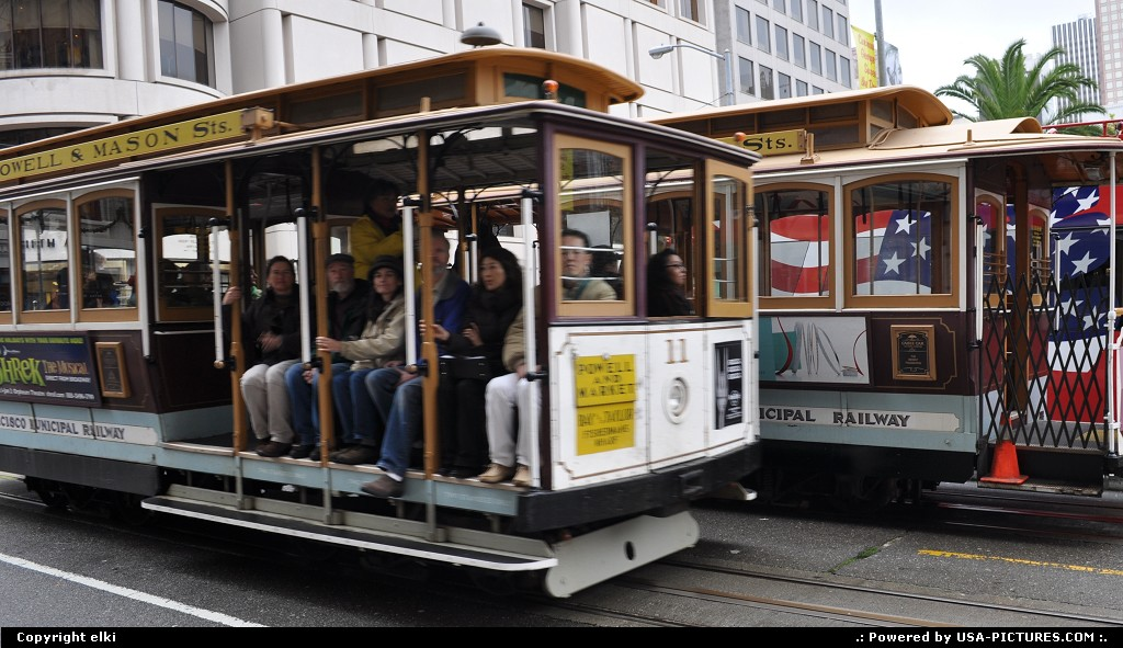 Picture by elki:San FranciscoCaliforniacable car san francisco