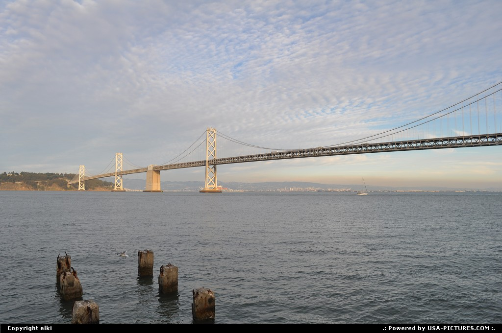 Picture by elki: San Francisco California   oakland bridge, san francisco, embarcadero