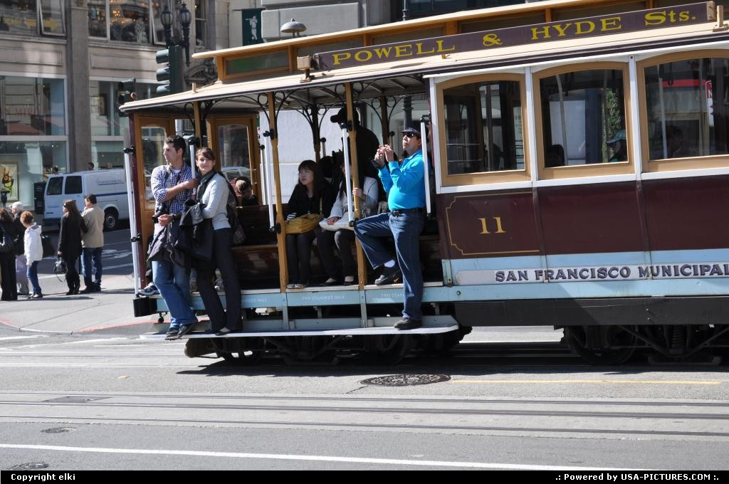 Picture by elki: San Francisco California   cable car powell union sqare san francisco california