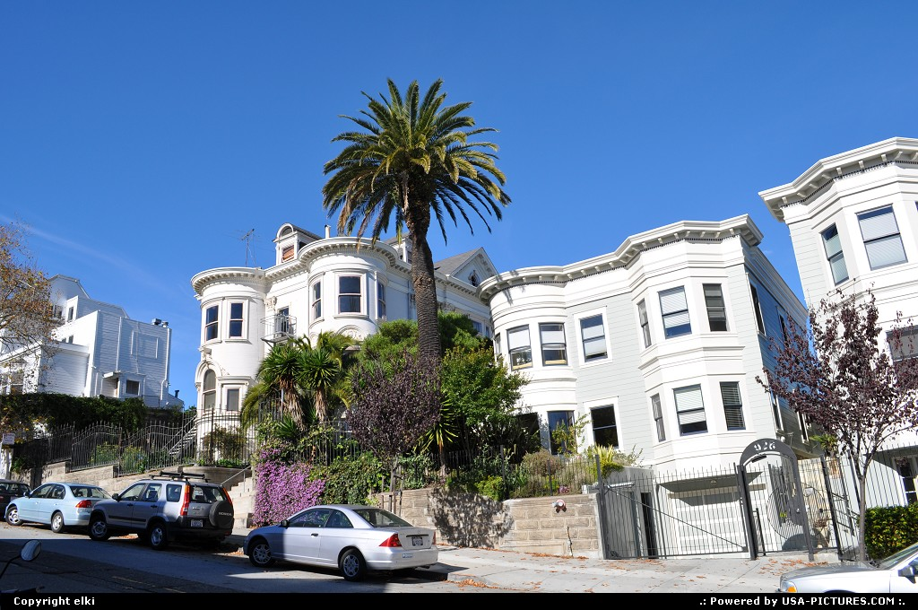 Picture by elki:San FranciscoCaliforniaalamo square, houses, san francisco
