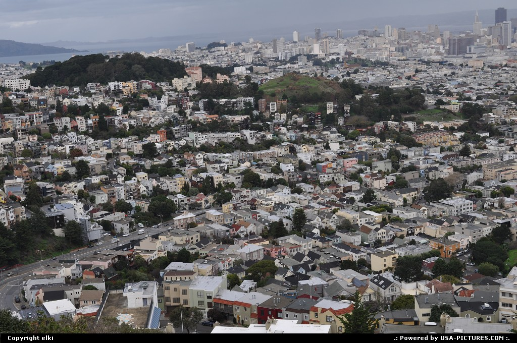 Picture by elki:San FranciscoCaliforniasan francisco twin peaks