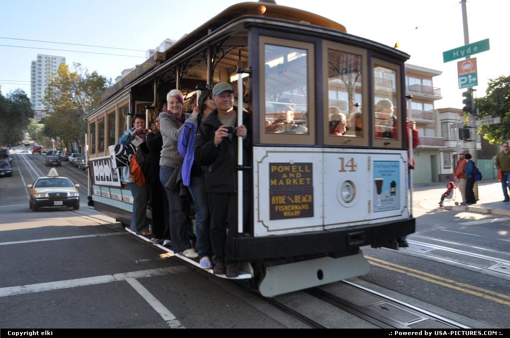Picture by elki:San FranciscoCaliforniasan fransisco california cable car