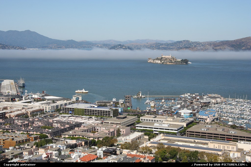 Picture by airtrainer: San Francisco California   fisherman's wharf, alcatraz