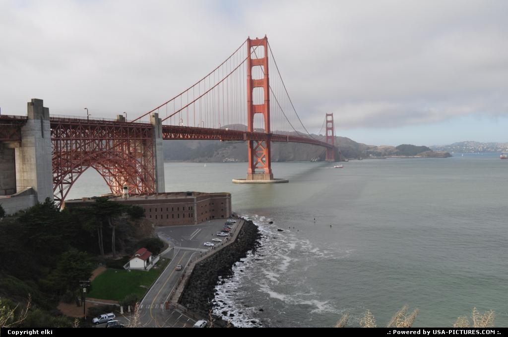 Picture by elki:San FranciscoCaliforniagolden gate san francisco