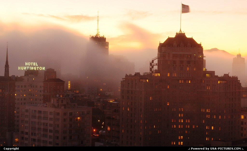 Picture by elki: San Francisco California   fog, san francisco