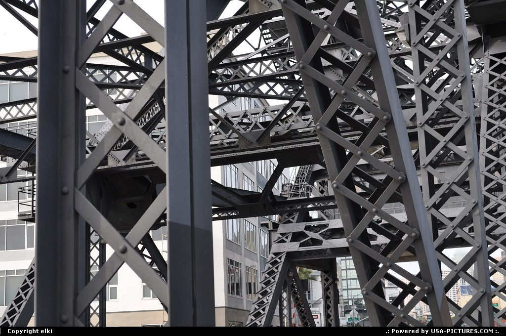 Picture by elki:San FranciscoCaliforniaodul bridge, at&t park, giants