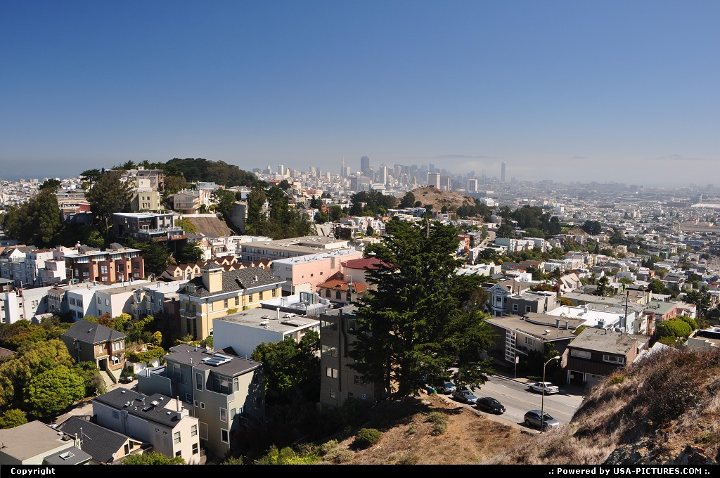 Picture by WestCoastSpirit: San Francisco California   peak, hill, twin peaks, sfo, skyline
