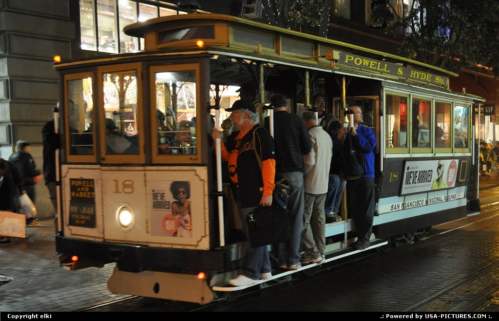 Picture by elki: San Francisco California   cable car san francisco