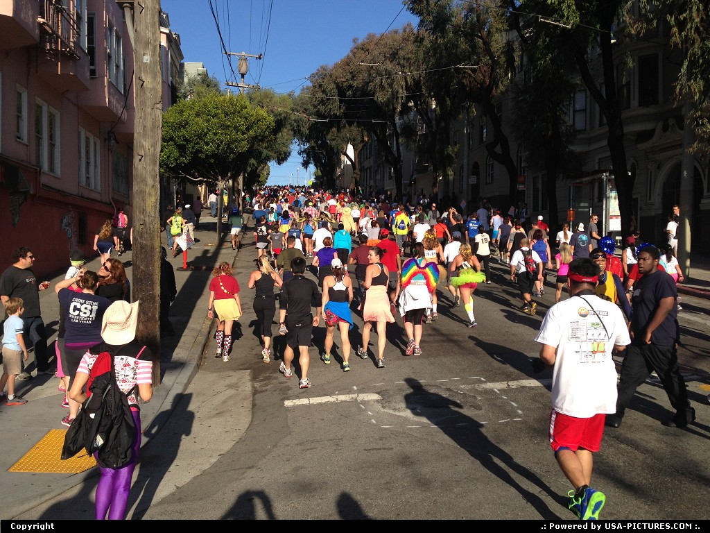 Picture by WestCoastSpirit: San Francisco California   b2b, sfo, painted ladies, sfo, run, running
