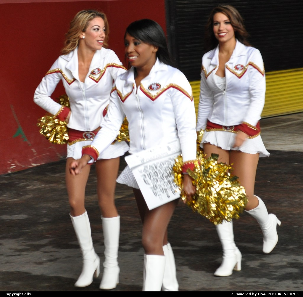 Picture by elki: San Francisco California   San Fancisco, 49 ers, cheerleaders