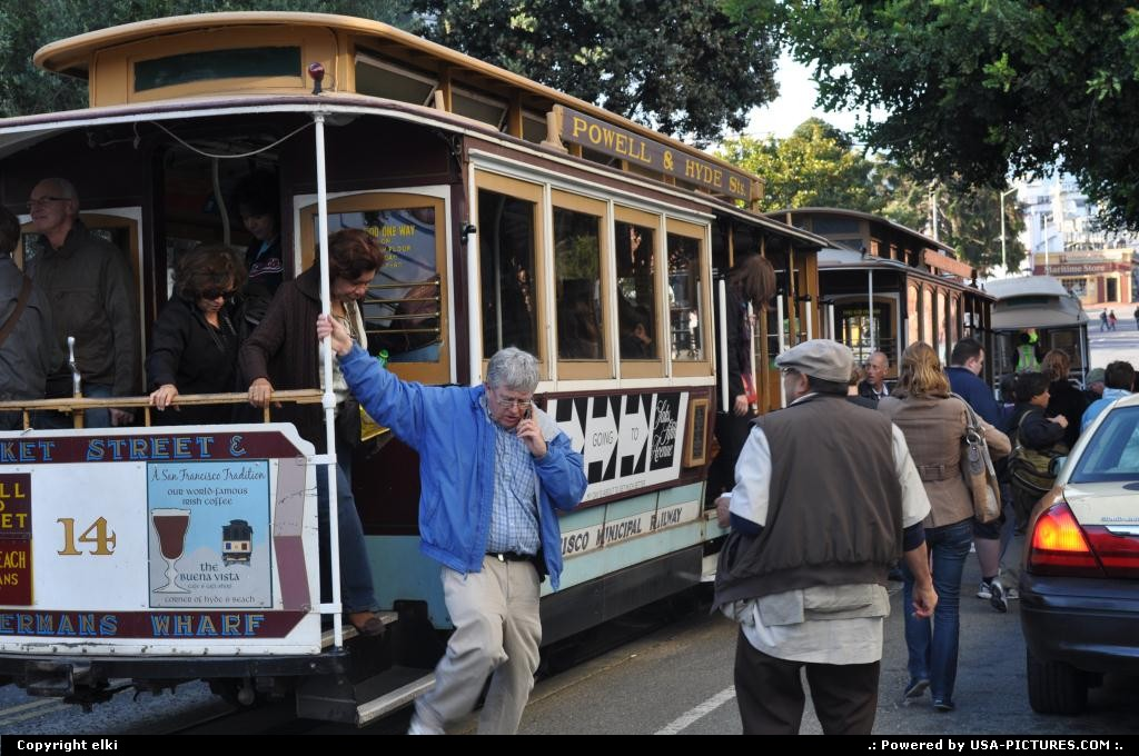 Picture by elki: San Francisco California   san fransisco california cable car