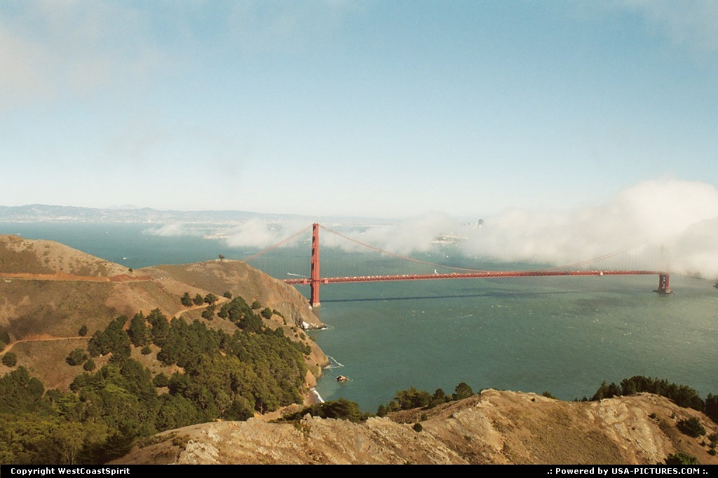Picture by WestCoastSpirit: San Francisco California   bike, golden gate, bridge, fog, bay