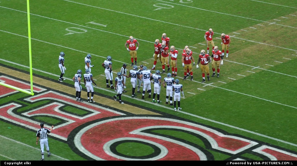 Picture by elki: San Francisco California   49 ers Seattle Seahawks San Francisco