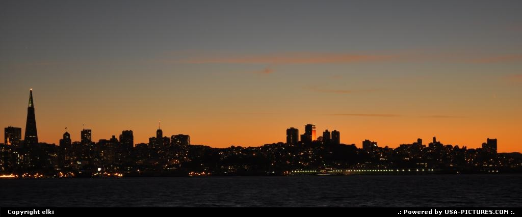 Picture by elki:San FranciscoCaliforniasunset san francisco skyline
