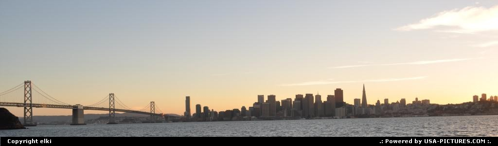 Picture by elki: San Francisco California   san francisco skyline sunset
