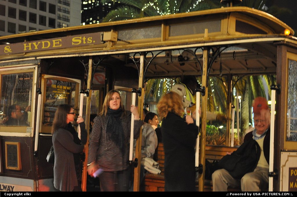 Picture by elki: San Francisco California   cable car