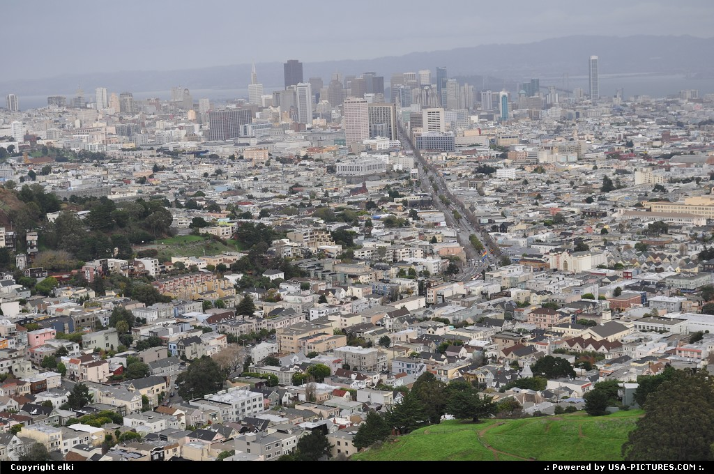 Picture by elki: San Francisco California   twin peaks