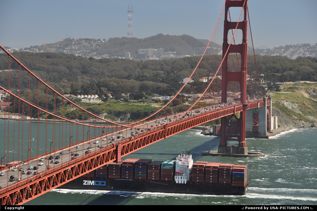 Picture by WestCoastSpirit:San FranciscoCaliforniasfo, golden gate, container, ship, asia