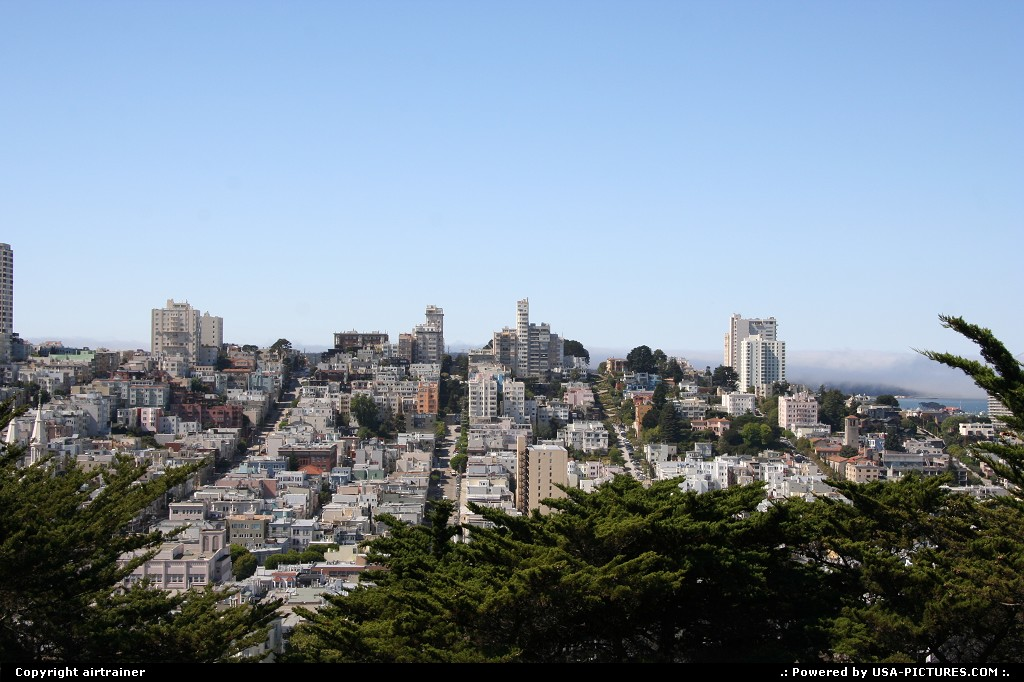 Picture by airtrainer:San FranciscoCaliforniacoit tower, lombard street