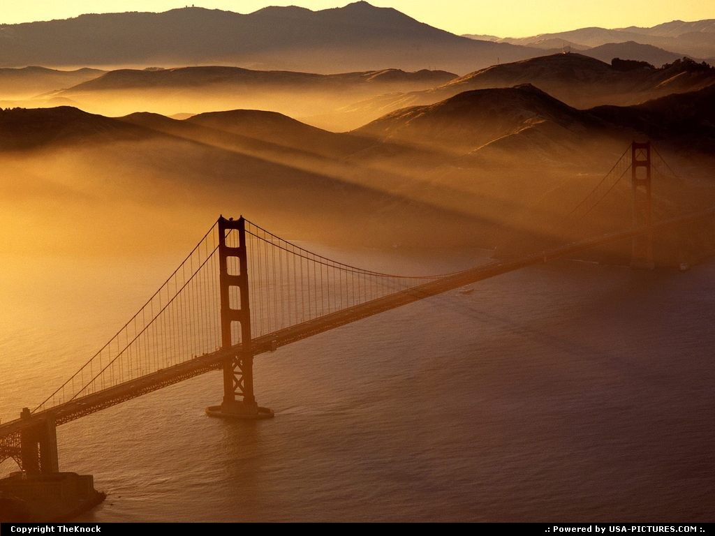 Picture by TheKnock: San Francisco California   Golden Gate 'sky view'