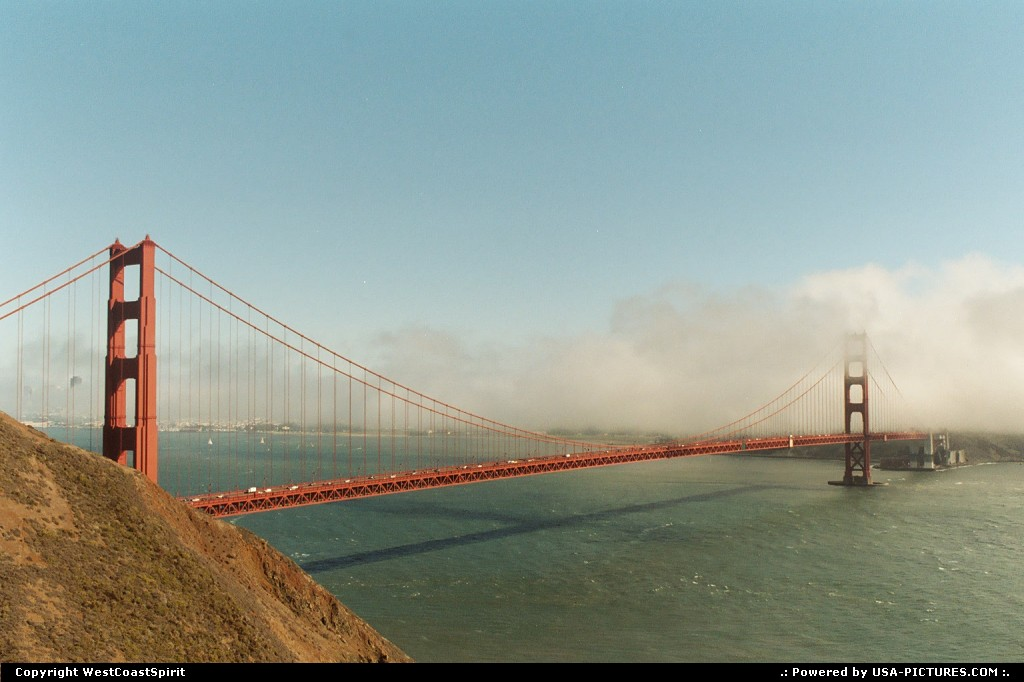 Picture by WestCoastSpirit: San Francisco California   golden gate bridge, bay