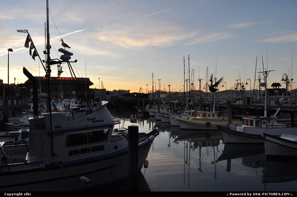 Picture by elki: San Francisco California   fisherman sunset