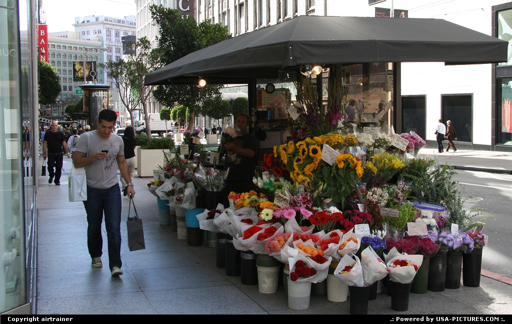 Picture by airtrainer: San Francisco California   flowers, union square