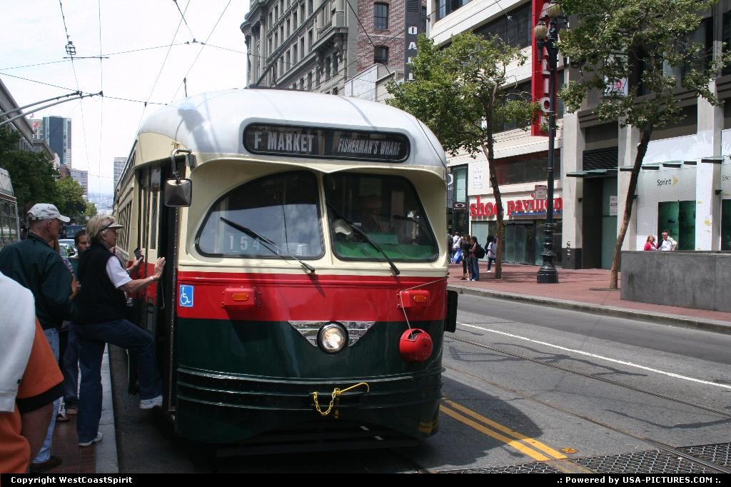Picture by WestCoastSpirit: San Francisco California   tram, street car, pier