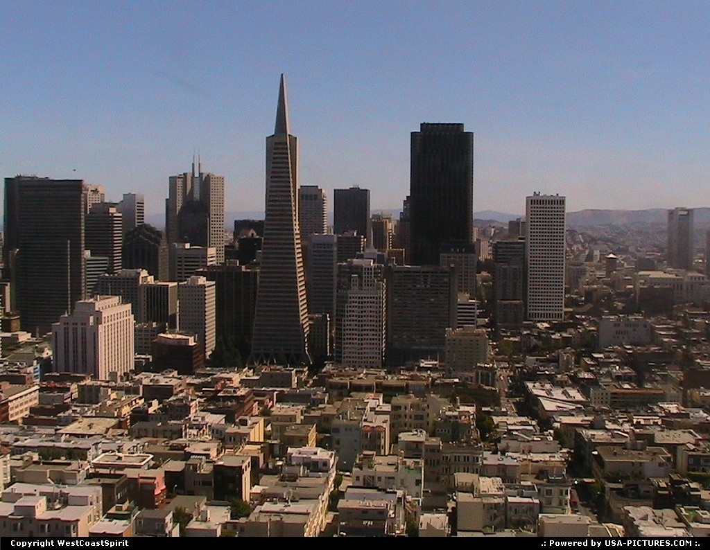 Picture by WestCoastSpirit:San FranciscoCaliforniatower, building, skyscraper, coit tower, downtown