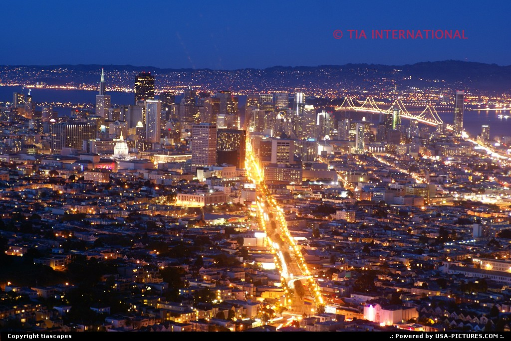 Picture by tiascapes: San Francisco California   San Francisco, view, cityscape, skyline, Twin Peaks