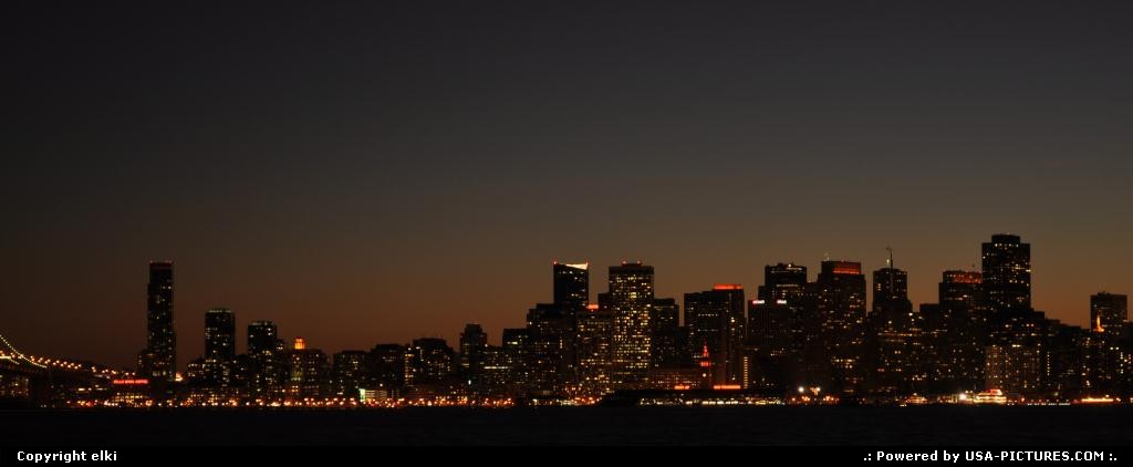 Picture by elki:San FranciscoCaliforniasunset over san francisco